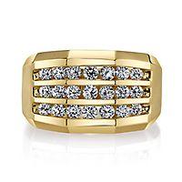 Men's 1 1/4 ct. tw. Diamond Ring in 10K Yellow Gold