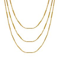 Graduated Triple Strand Necklace in 14K Yellow Gold