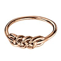 Knot Ring in 14K Rose Gold over Sterling Silver