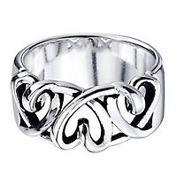 Twist Heart Ring in Sterling Silver