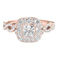 My Diamond Story® 7/8 ct. tw. Diamond Engagement Ring in 14K Rose Gold