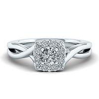 My Diamond Story® 1/2 ct. tw. Diamond Engagement Ring in 14K White Gold