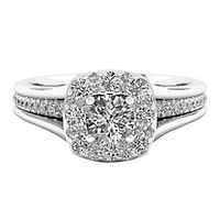 1 1/7 ct. tw. Diamond Engagement Ring in 14K White Gold