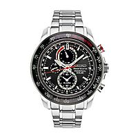 Seiko® Sportura Solar Chronograph Men's Watch
