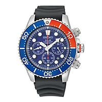 Seiko® Solar Chronograph Dive Men's Watch