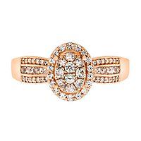 1/2 ct. tw. Diamond Ring in 10K Rose Gold