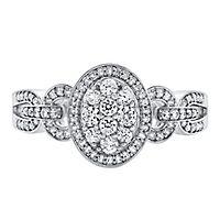 1/2 ct. tw. Diamond Ring in 10K White Gold