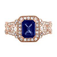 Tanzanite & 3/8 ct. tw. Diamond Ring in 14K Rose Gold