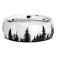 Lashbrook® Men's Tree Band in Cobalt Chrome, 8MM