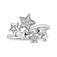 Enchanted Disney Tinker Bell 1/10 ct. tw. Diamond Star Ring in Sterling Silver