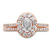 1 ct. tw. Multi-Diamond Engagement Ring Set in 14K Rose Gold