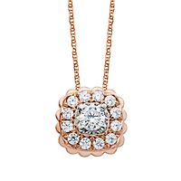 1/2 ct. tw. Diamond Pendant in 10K Rose Gold