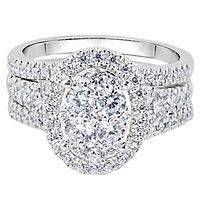 1 1/2 ct. tw. Diamond Engagement Ring Set in 14K White Gold