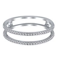 1/7 ct. tw. Diamond Ring Enhancer in 10K White Gold