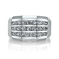 Men's 1 1/4 ct. tw. Diamond Ring in 10K White Gold, 15MM