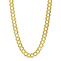 Men's Curb Chain in 14K Yellow Gold, 24