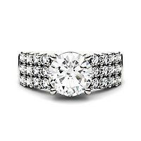 Forever One® 3 ct. tw. Moissanite Ring in 14K White Gold
