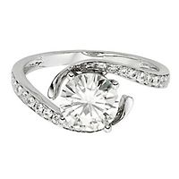 Forever One® 1 3/4 ct. tw. Moissanite Engagement Ring in 14K White Gold