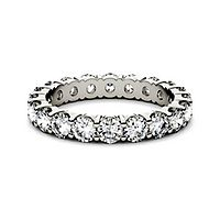 Forever One® 2 ct. tw. Moissanite Eternity Band in 14K White Gold