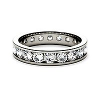 Forever One® 2 ct. tw. Moissanite Band in 14K White Gold