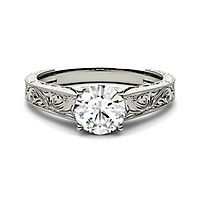 Forever One® 1 ct. tw. Moissanite Ring in 14K White Gold