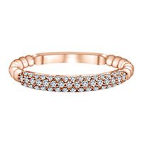 1/4 ct. tw. Diamond Band in 14K Rose Gold