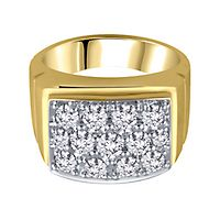 Men's 2 ct. tw. Diamond Ring in 10K Yellow Gold