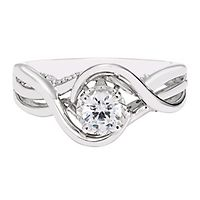 1/2 ct. tw. Diamond Solitaire Ring in 10K White Gold