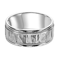Men's Band in 14K White Gold, 9MM