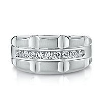 Men's 1/2 ct. tw. Diamond Band in 10K White Gold