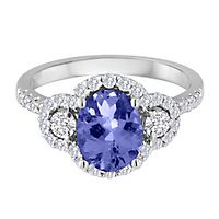 Tanzanite & 3/4 ct. tw. Diamond Ring in 14K White Gold