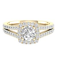 My Diamond Story® 1 1/3 ct. tw. Diamond Engagement Ring in 14K Yellow Gold