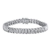 5/8 ct. tw. Diamond Bracelet in Sterling Silver