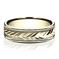 Wedding Band in 10K Yellow Gold, 6MM