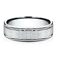 Wedding Band in 10K White Gold, 6MM