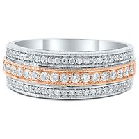 1/2 ct. tw. Diamond Band in 14K White & Rose Gold