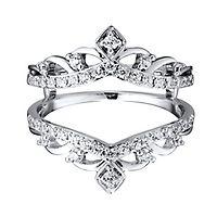 5/8 ct. tw. Diamond Ring Enhancer in 14K White Gold