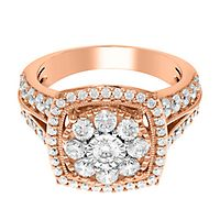2 ct. tw. Multi-Diamond Engagement Ring in 10K Rose Gold