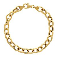Oval Link Bracelet in 14K Yellow Gold