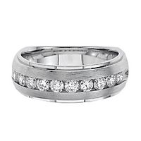 Men's 1/2 ct. tw. Diamond Band in 10K White Gold, 4.5MM
