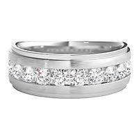 Men's 1 ct. tw. Diamond Band in 10K White Gold, 5MM