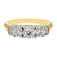 1/2 ct. tw. Diamond Three-Stone Ring in 10K Yellow Gold