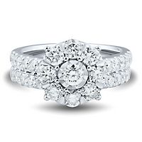 2 ct. tw. Multi-Diamond Engagement Ring Set in 14K White Gold