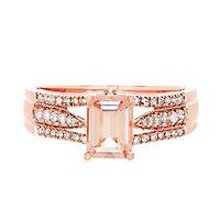 Morganite & 1/5 ct. tw. Diamond Ring in 14K Rose Gold