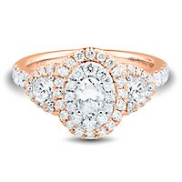 Helzberg Limited Edition® 1 1/2 ct. tw. Diamond Engagement Ring in 14K Rose & White Gold