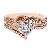 5/8 ct. tw. Diamond Engagement Ring Set in 10K Rose & White Gold