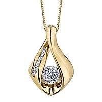 Sirena® 1/4 ct. tw. Diamond Pendant in 10K Yellow Gold