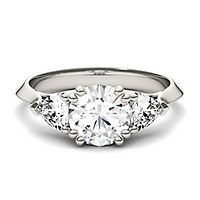 Forever One® 1 3/4 ct. tw. Moissanite Ring in 14K White Gold