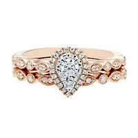 3/8 ct. tw. Diamond Engagement Ring Set in 14K Rose & White Gold
