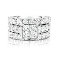 5 ct. tw. Multi-Diamond Engagement Ring Set in 14K White Gold